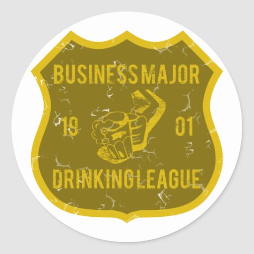 Liga de consumición importante del negocio etiquetas redondas