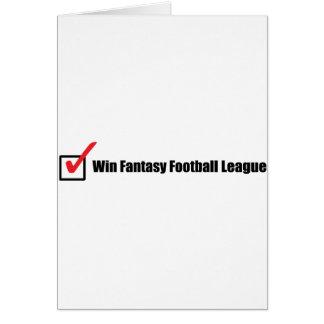 Liga de fútbol de la fantasía del triunfo: Control Tarjetón