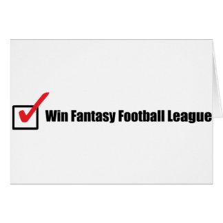 Liga de fútbol de la fantasía del triunfo: Control Felicitación