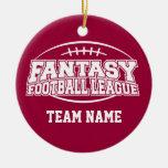Liga de fútbol de la fantasía ornamente de reyes