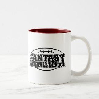 Liga de fútbol de la fantasía taza de café de dos colores