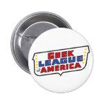 Liga de Geekl del botón redondo de América Pin