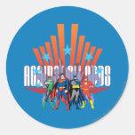 "Liga de justicia ""contra todas las probabilidades pegatina redonda"