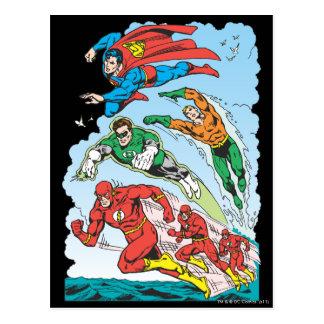 Liga de justicia del grupo 3 de América Postales