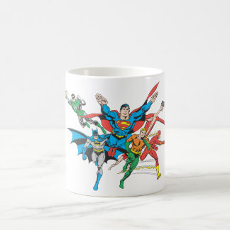 Liga de justicia del grupo 4 de América Tazas De Café