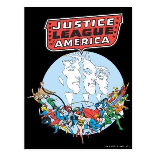 Liga de justicia del grupo de América Postales
