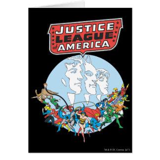 Liga de justicia del grupo de América Tarjeta De Felicitación