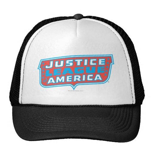 Liga de justicia del logotipo de América Gorras