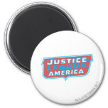 Liga de justicia del logotipo de América Imán Redondo 5 Cm