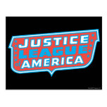 Liga de justicia del logotipo de América Postal