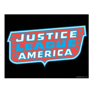 Liga de justicia del logotipo de América Postales