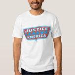 Liga de justicia del logotipo de América Remeras