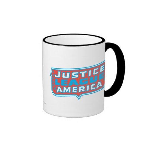 Liga de justicia del logotipo de América Taza A Dos Colores