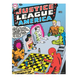 Liga de justicia del problema #1 - nov de América Tarjeta Postal