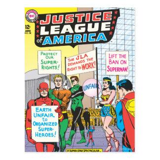 Liga de justicia del problema #28 - junio de Améri Postales