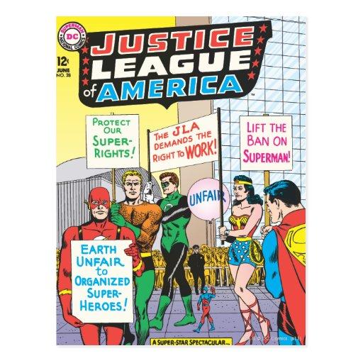 Liga de justicia del problema #28 - junio de Améri Postal