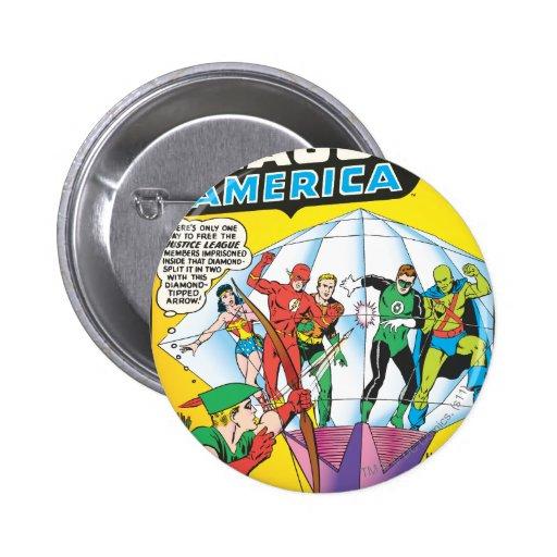 Liga de justicia del problema #4 de América - pued Pin Redondo 5 Cm