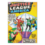 Liga de justicia del problema #4 de América - pued Felicitación