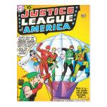 Liga de justicia del problema #4 de América - pued Postal