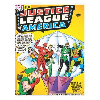 Liga de justicia del problema #4 de América - pued Tarjeta Postal