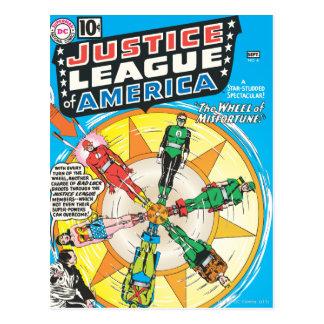 Liga de justicia del problema #6 - sept. de Améric Postales