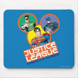 """Liga de justicia """"fuerza en números """" alfombrillas de ratones"""