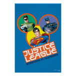 """Liga de justicia """"fuerza en números """" poster"""