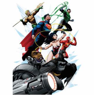 Liga de justicia - grupo 1 fotoescultura vertical