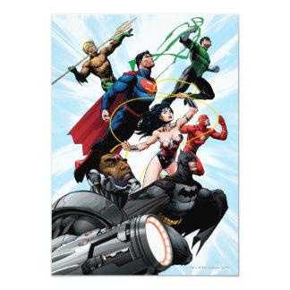 Liga de justicia - grupo 1 invitación 12,7 x 17,8 cm