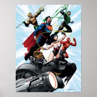 Liga de justicia - grupo 1 póster