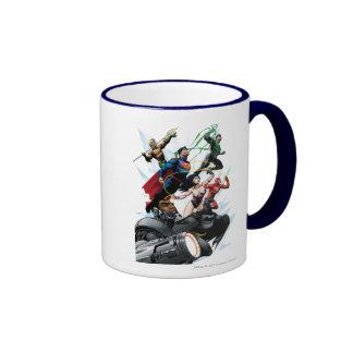Liga de justicia - grupo 1 taza de dos colores