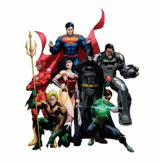 Liga de justicia - grupo 2 fotoescultura vertical