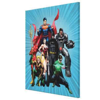 Liga de justicia - grupo 2 impresión en lona estirada