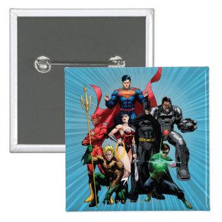 Liga de justicia - grupo 2 pin cuadrado