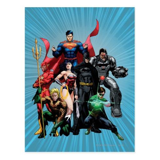 Liga de justicia - grupo 2 postal