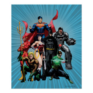 Liga de justicia - grupo 2 póster