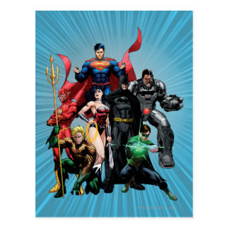 Liga de justicia - grupo 2 tarjeta postal