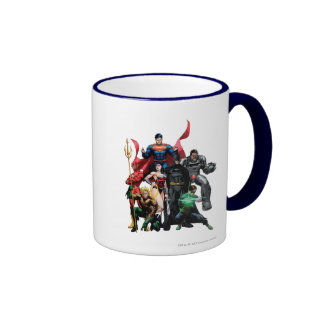 Liga de justicia - grupo 2 taza de dos colores