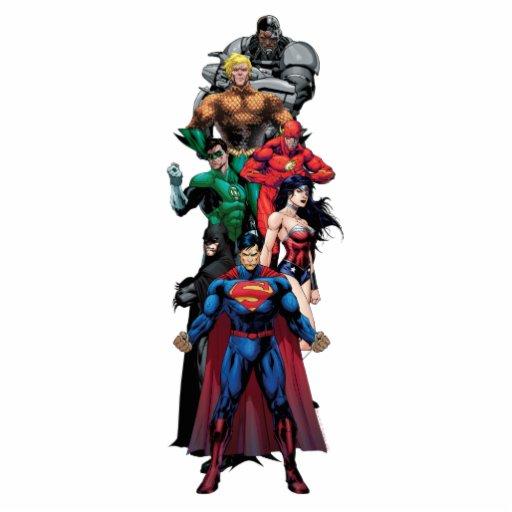 Liga de justicia - grupo 3 esculturas fotograficas