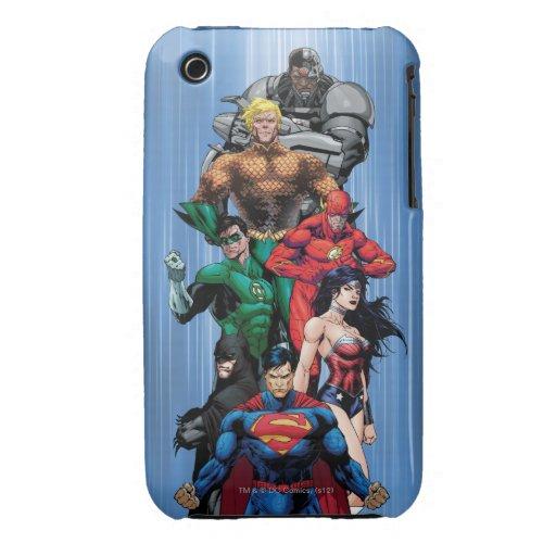 Liga de justicia - grupo 3 iPhone 3 Case-Mate protector