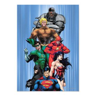 Liga de justicia - grupo 3 invitación 12,7 x 17,8 cm