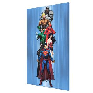 Liga de justicia - grupo 3 impresiones en lienzo estiradas