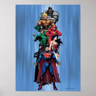 Liga de justicia - grupo 3 póster