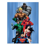 Liga de justicia - grupo 3 tarjetas postales