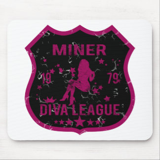 Liga de la diva del minero alfombrilla de raton