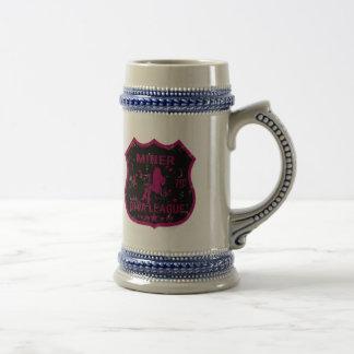 Liga de la diva del minero jarra de cerveza
