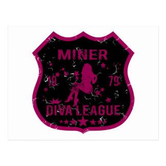 Liga de la diva del minero postal