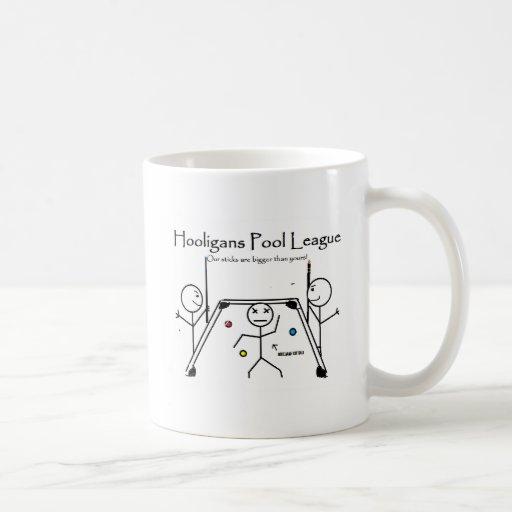 liga de la piscina del gamberro tazas de café