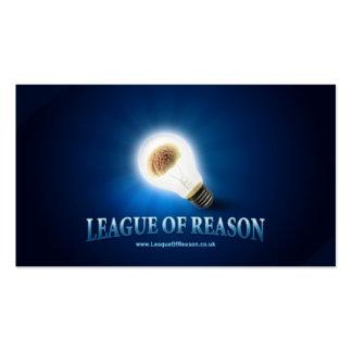Liga de la razón -- Tarjetas de visita