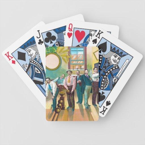 Liga de los bolos de los caballeros cartas de juego